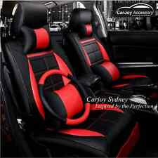 Carbon Leather Black Red Car Seat Cover Subaru Impreza Forester Outback Liberty