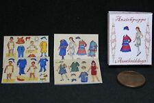 Anziehpuppe Miniatur  Nostalgie Schachtel 1:12  Puppenstube Haus Diorama