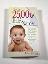 25,000+ Baby Names by Bruce Lansky (2005, Paperback)