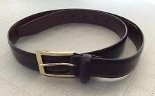 """Mens M&S Brown Coated Leather Belt Size 33""""-35"""""""