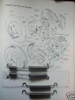 (x4) RILEY 1.5 1500 Saloon    REAR BRAKE SHOE SPRINGS  (1958- 65)