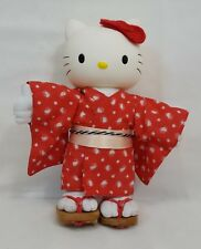 "Sanrio HELLO KITTY Red JAPANESE KIMONO 10"" Doll w Vinyl Head RARE & NEW in BOX"