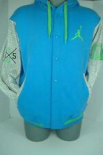 New Mens Large NIKE Jordan Brooklyn Active Heavy Blue Jacket Hoody $110