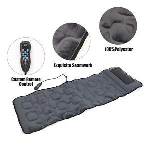 Electric Full Body Foldable Heated 12Nodes Massage Mat Chair Mat Shiatsu Pillow