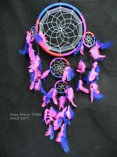 Long/Big Bead Handmade Hanging Feather Dream Catcher Decoration Ornament Pink