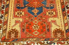Ci 1910s ANTIQUE RARE CAMEL WOOL_HAIR PERSIAN HERIZ BAKHSHAYESH RUG 3.8x10.11