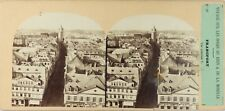 ALLEMAGNE Francfort Panorama Photo Furne et Tournier Stereo Albumine ca 1860