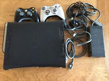 Microsoft Xbox 360 Elite System 120GB Black w two controllers HDMI