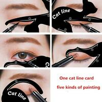 2in1 Dual-ended Liquid Eyeliner Pen+Stamp Seal Cat Eyeshadow Template Card CO
