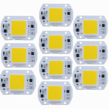10X 50W CHIP LED CON DRIVER 220V INTEGRATO RICAMBIO FARO A LED Cool white