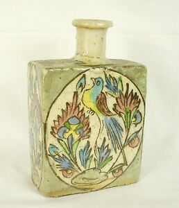 Flask Or Bottle Iznik Antique 16 CM 546 G Old Vial Gold