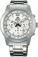 ORIENT FTW01005W0,Men Chronograph,New,Stainless,50m WR,WITH TAG AND GIFT BOX