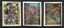 CAMEROUN 1980, FLOWERS, Scott 674-676 IMPERFORATE, MNH