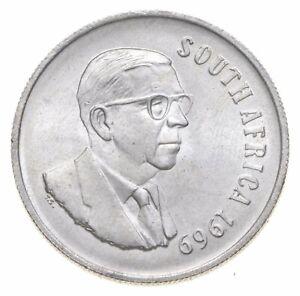 SILVER - WORLD COIN - 1969 South Africa 1 Rand - World Silver Coin *546