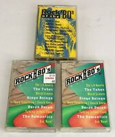Lot of 3 ROCKS OF THE 80's Compilation Cassette Tapes ~ Volume 1 & Volume 3 (x2)