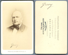Bacard, Paris, Jules Grevy Vintage carte de visite, CDV.Jules Grévy, né le 15
