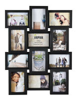 ~ Multi Aperture Photo Picture Frame - Holds 12 X 6''X4'' Photos   Black -1014BK