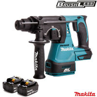 Makita DHR242Z 18V Brushless SDS+ Rotary Hammer Drill With 2 x 3.0Ah Batteries
