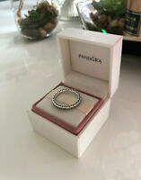 Genuine PANDORA Sterling Silver Sparkle and Hearts Ring - 190963CZ (All Sizes)