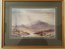 William McAnally Watercolour painting of Ben Ledi Stirlingshire