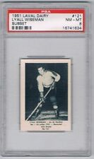 1952 Laval Dairy Subset Hockey Card Quebec Aces #121 Lyall Wiseman Graded PSA 8