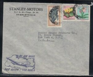 BELGIAN CONGO Commercial Cover Stanleyville to New York City 24-6-1956 Cancel