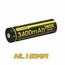 NiteCore NL1834R Protected 3.6V 3400mAh 18650 USB Rechargeable Li-ion Battery