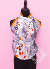 """NEW HERMES 90 cm 36"""" SPACE SHOPPING AU FAUBOURG SILK TWILL SCARF SHAWL CARRE s28"""