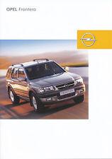 Opel Frontera Prospekt 7/03 brochure Autoprospekt Auto PKWs Geländewagen 2003