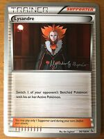 Pokemon TCG : 4 X LYSANDRE 90/106 World Championship PROMO Uncommon
