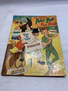 Vintage 1952 Whitman Walt Disney Peter Pan Fun Book Jokes Puzzles Z3