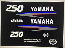 Yamaha 250 hp HPDI Outboard Engine Decal Kit High Pressure Direct Injection