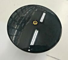 BLACK N BRASS DOMED ROUND AIR FILTER COVER harley hd 5-1/2 softail bobber k&n