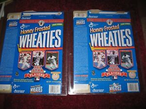 (2) All star players Honey Frosted Wheaties Boxes 15 oz ~Ken Griffey Jr., Bonds