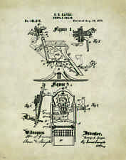 Dentist Patent Poster Art Print Vintage Dental Instruments Tools Chairs PAT177