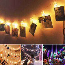 20 LED Hanging Picture Photo Peg Clip Fairy String Lights Party Decoration
