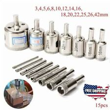 15× Durable Diamond tool drill bit hole saw set- 3mm to 42mm a set on sale !