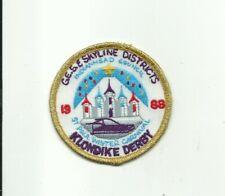SCOUT BSA 1988 ST. PAUL WINTER CARNIVAL KLONDIKE DERBY STAFF PATCH INDIANHEAD MN