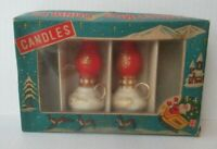 LOT OF 2 VTG NOVELTY LANTERN CHRISMAS CANDLES W/ ORIGINAL BOX Made In Japan JB5