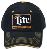 Miller Lite Beer Bier Cap Kappe Snapback Verschluss Blau