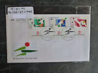 1991 ISRAEL 14th HAPOEL GAMES SET 3 STAMPS W/- TAB FIRST DAY COVER