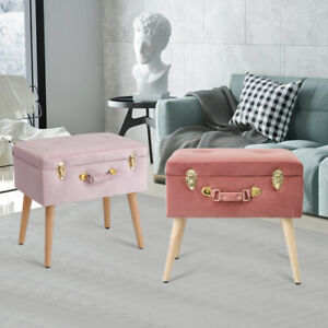 Ottoman Storage Chest Bench Footstool Pouffe Chair Trunk Stool Toy Box Kid Seat