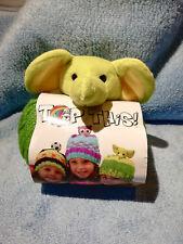 bonnet enfan kit at tricoter petit éléphant vert