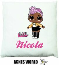 Personalised Girls LoL dolls princess Cushion Pillow Gift Birthday Present child