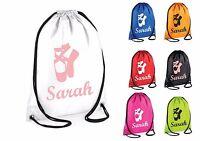 Personalised Ballet Bag Dance Gym Bag Swimming Drawstring School PE Sports Kids