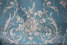 French Antique Hand Painted Gouache Textile Painting For Toile Fabric
