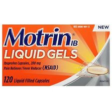 Motrin IB Pain Reliever/Fever Reducer Liquid Gels 120 ea
