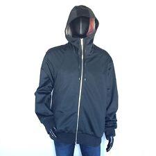 Nike Air Force 1 Mens Black Hooded Bomber Flight Jacket Size XL Zip Up