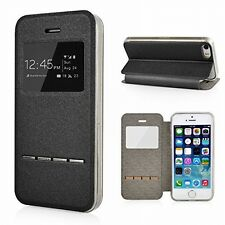 PU Leather Flip Case Cover Smart Window View Slim Phone Full Skin For iPhone LG