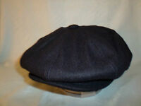 NAVY BLUE RETRO 1920;S 1930'S VICTORIAN EDWARDIAN  PEAKY BLINDERS STYLE CAP